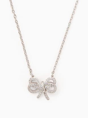 bow meets girl pave short mini pendant