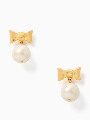 all wrapped up in pearls drop earrings