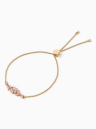 gleaming gardenia flower slider bracelet