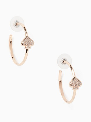 everyday spade pave hoops