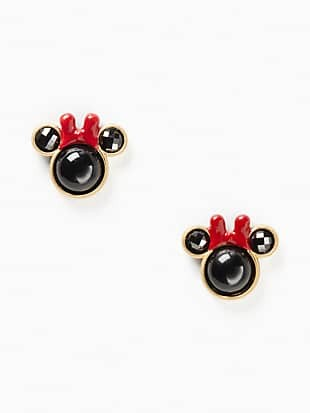 disney x kate spade new york minnie studs