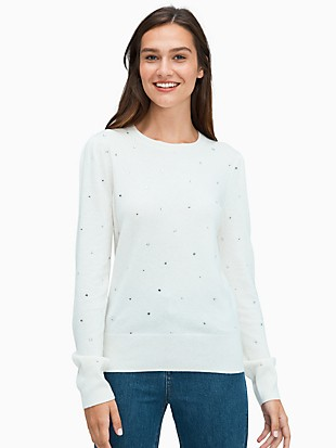 scattered rhinestone sweater