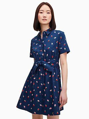 wild strawberries tie-waist mini dress
