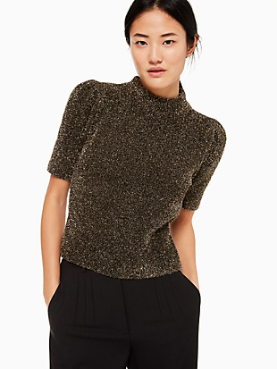 metallic texture sweater