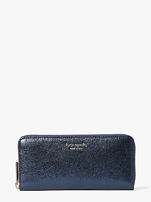 spencer metallic slim continental wallet