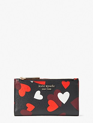 spencer celebration hearts small slim bifold wallet