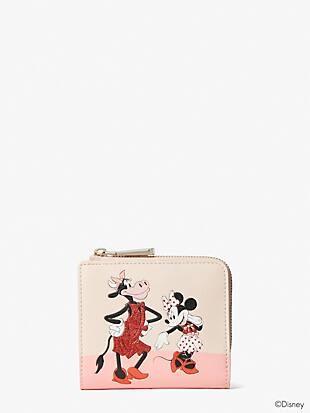 disney x kate spade new york clarabelle & friends small bifold wallet