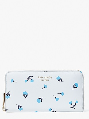 spencer dainty bloom zip-around continental wallet