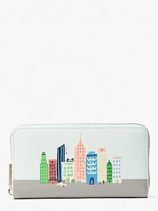 rock center zip-around continental wallet