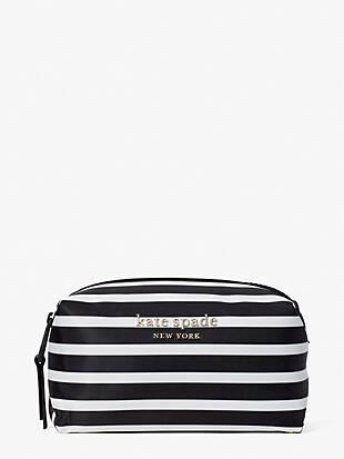 everything puffy stripe medium cosmetic case