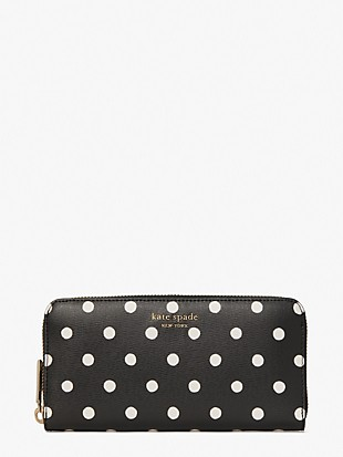 spencer sunshine dot zip-around continental wallet
