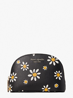 spencer daisy dots small dome cosmetic case