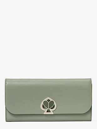 nicola twistlock flap continental wallet