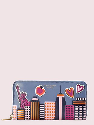 scenic route nyc zip-around continental wallet