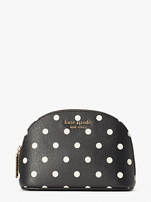 spencer cabana dot small dome cosmetic case