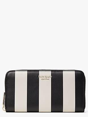 spencer stripe zip-around continental wallet