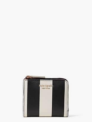 spencer stripe small bifold wallet