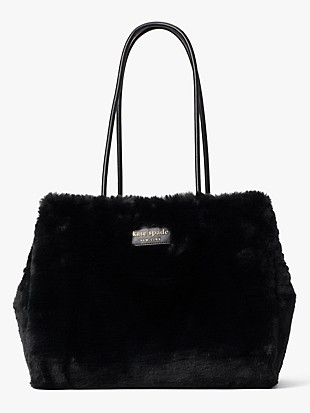 everything faux-fur large tote