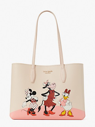 disney x kate spade new york clarabelle & friends large tote