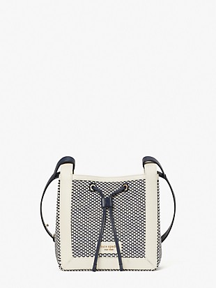 grab fabric small bucket bag
