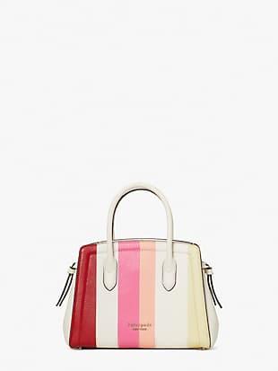 knott stripe mini satchel