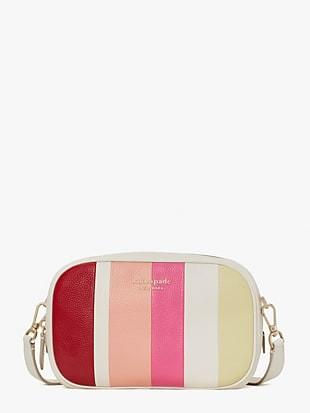 astrid stripe medium crossbody bag
