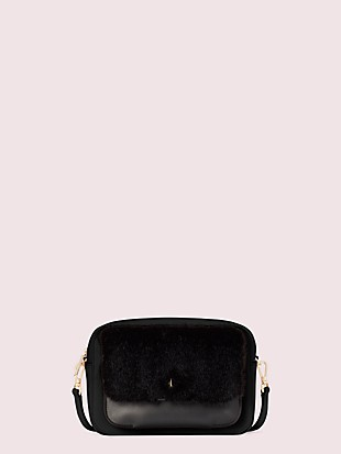 customizable camera bag faux fur pouch