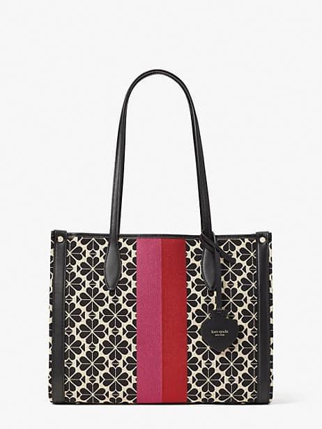 케이트 스페이드 토트백 Kate Spade spade flower jacquard stripe market medium tote