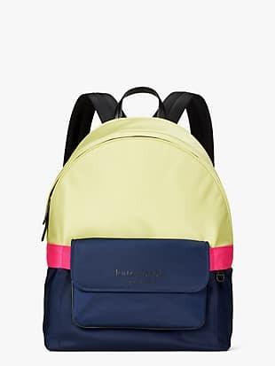journey colorblock nylon large backpack
