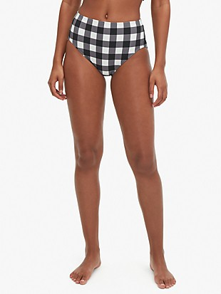 Kate spade shoreside plaid high-waist bikini bottom