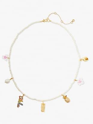 aloha pearl charm necklace