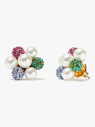pearl power cluster studs