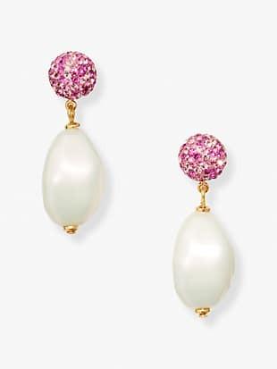 pearl power drop earrings