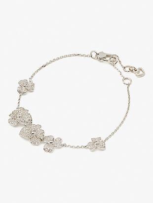 precious pansy pavé statement bracelet