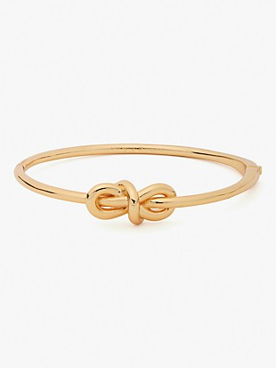 with a twist knot hinged bangle