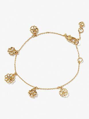 spade floral charm bracelet