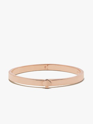 heritage spade thin metal button bangle