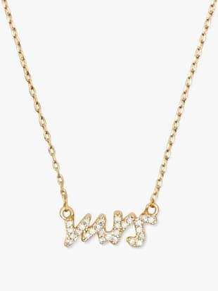 """say yes """"mrs."""" pavé mini pendant"""