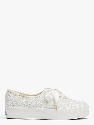 keds x kate spade new york triple glitter sneakers