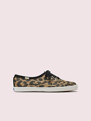 keds x kate spade new york champion glitter leopard sneakers