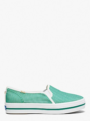 keds x kate spade new york triple decker striped mesh sneakers
