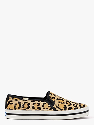 keds x kate spade new york double decker leopard-print sneakers