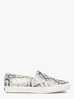 keds x kate spade new york double decker snake-embossed sneakers