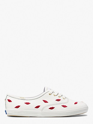 keds x kate spade new york champion embroidered lips sneakers