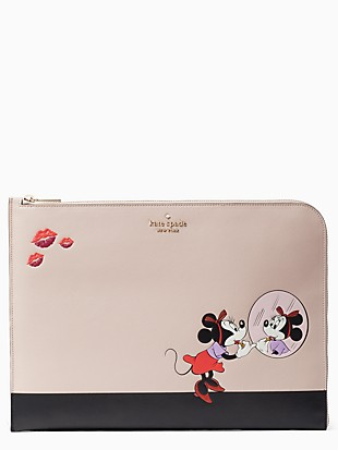 disney x kate spade new york minnie universal laptop sleeve