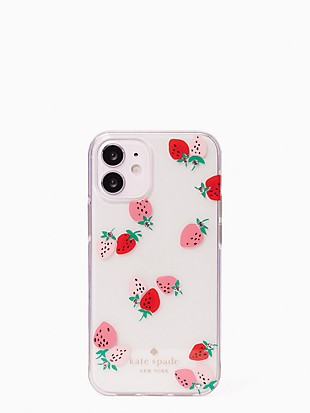strawberry with gems iphone 12 mini case