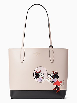 disney x kate spade new york minnie mouse large reversible tote