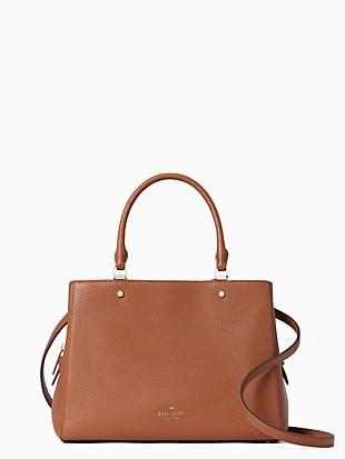 leila medium triple compartment satchel
