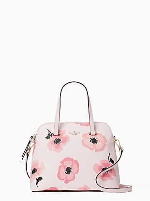 maise floating poppies medium dome satchel