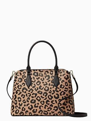 darcy graphic leopard large satchel